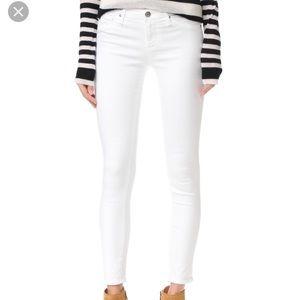 AG The Legging Ankle White Jeans
